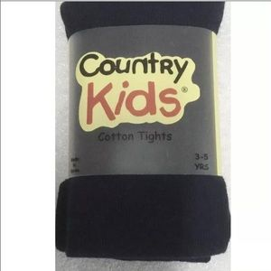 Country Kids Navy Blue Dot Cotton Tights 3-5 Years